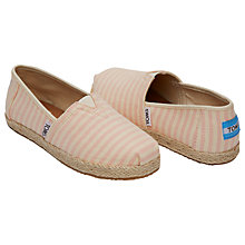 Buy TOMS Children's Alpagartas Blossom Casual Shoes, Multistripe Online at johnlewis.com