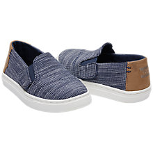 Buy TOMS Children's Luca Casual Shoes, Navy Online at johnlewis.com