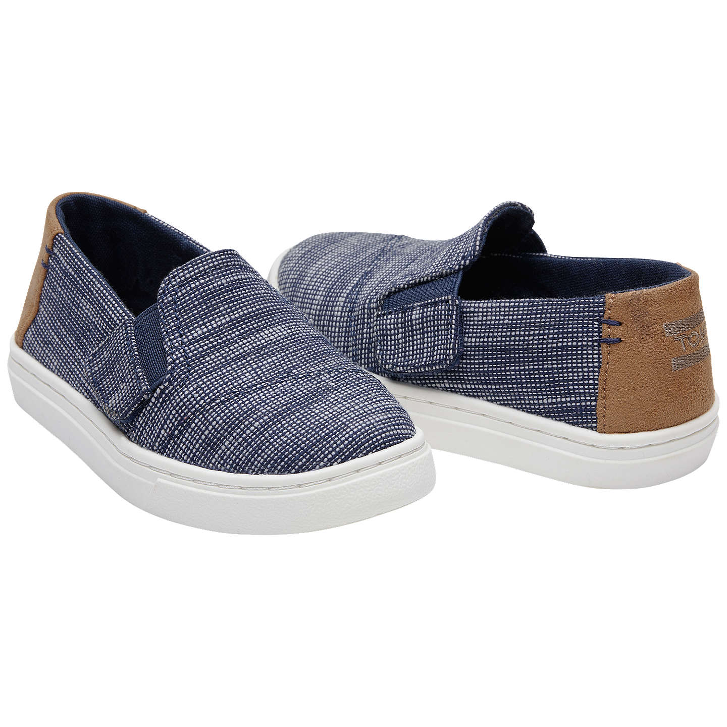 TOMS Children s Luca Casual Shoes Navy at John Lewis