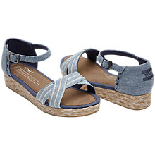 Buy TOMS Children's Harper Sandals, Denim Online at johnlewis.com