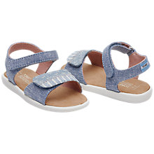 Buy TOMS Children's Strappy Chambray Sandals Online at johnlewis.com