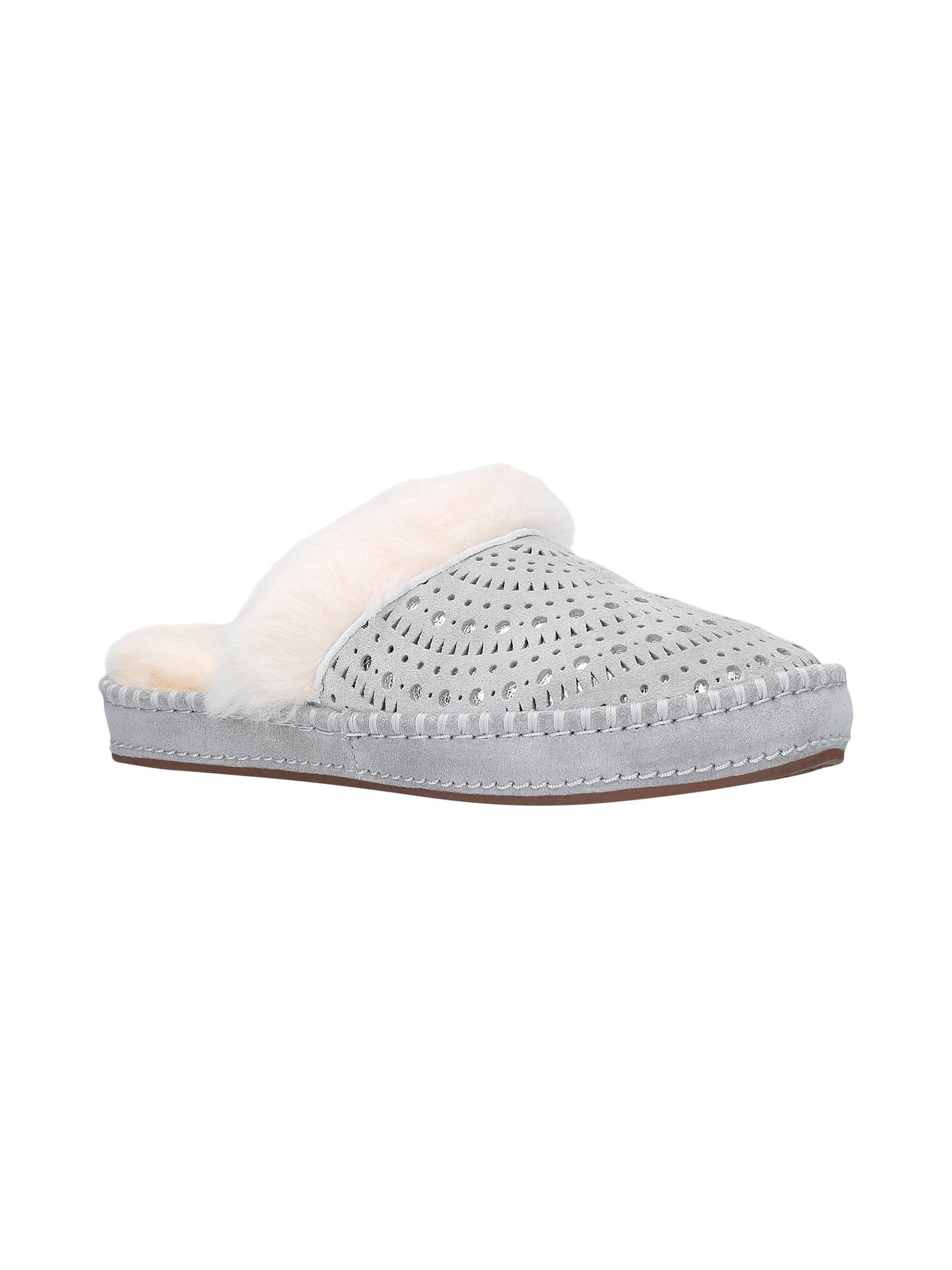 0a220aa4652 UGG Aira Mule Slippers, Grey Suede at John Lewis & Partners
