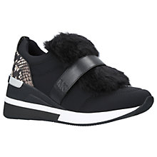 Buy MICHAEL Michael Kors Maven Trainers, Black Leather Online at johnlewis.com