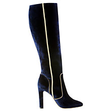 Buy Boden Icons Adele Knee High Boots, Navy Online at johnlewis.com