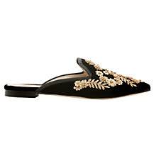 Buy Boden Icons Cynthia Embellished Slipper Loafers, Black Online at johnlewis.com