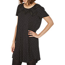 Buy Fat Face Copper & Black Lola Polka Dot Dress, True Black Online at johnlewis.com