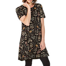 Buy Fat Face Simone Wildflower Dress, True Black Online at johnlewis.com