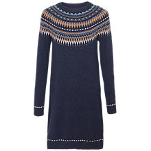 Buy Fat Face Madison Fair Isle Knitted Dress Online at johnlewis.com