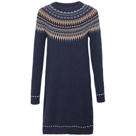 Buy Fat Face Madison Fair Isle Knitted Dress | John Lewis