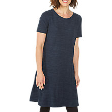 Buy Fat Face Simone Short Sleeve Knitted Dress, Navy Online at johnlewis.com