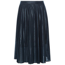 Buy White Stuff Edie Pleat Shimmer Skirt, Arran Teal Plain Online at johnlewis.com