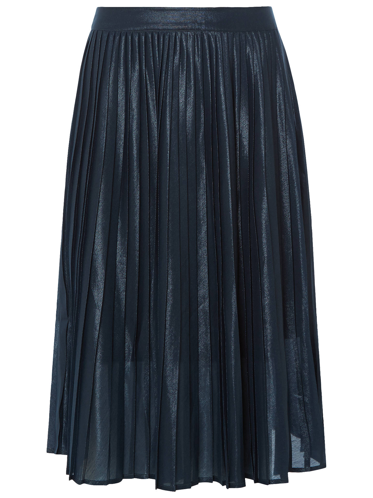 BuyWhite Stuff Edie Pleat Shimmer Skirt, Arran Teal Plain, 6 Online at johnlewis.com