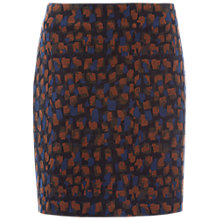 Buy White Stuff Adore Velvet Skirt, Muted Brown Print Online at johnlewis.com