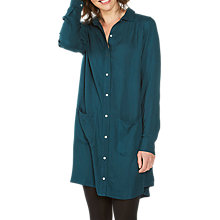 Buy Fat Face Isla Shirt Dress, Green Online at johnlewis.com