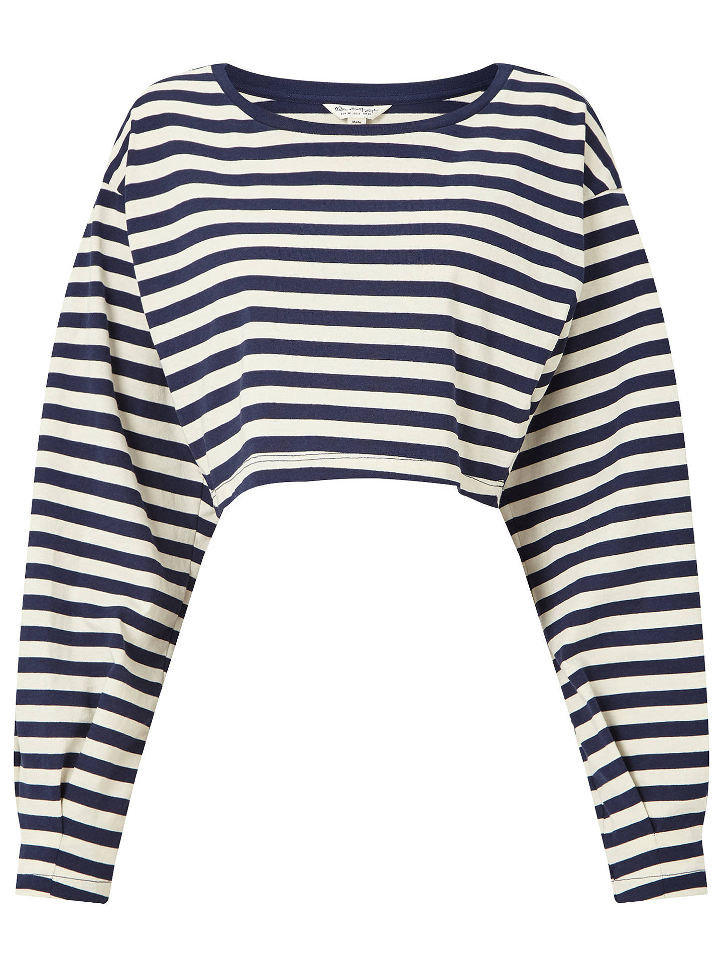 243a10a0e253b4 Buy Miss Selfridge Long Sleeve Striped Crop Top, Assorted, 6 Online at  johnlewis.