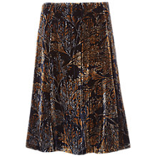 Buy White Stuff Viola Print Crush Velvet Skirt, Multi Online at johnlewis.com