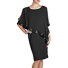 Buy Gina Bacconi Victoria Sequin Trim Cape Dress Online at johnlewis.com