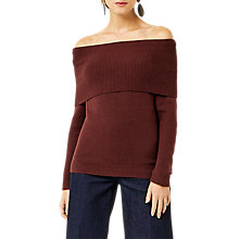Buy Warehouse Soft Deep Bardot Jumper Online at johnlewis.com