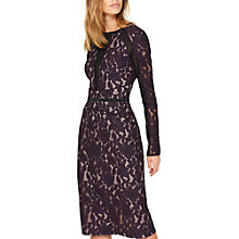 Buy Damsel in a dress Dalia Lace Panel Dress, Aubergine/Black Online at johnlewis.com