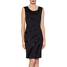 Buy Gina Bacconi Tessa Sequin Dart Dress, Black Online at johnlewis.com