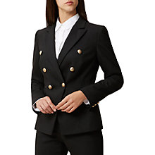 Buy Hobbs Georgia Jacket, Black Online at johnlewis.com