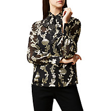 Buy Hobbs Luella Blouse, Black/Multi Online at johnlewis.com