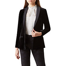Buy Hobbs Mila Velvet Jacket, Black Online at johnlewis.com