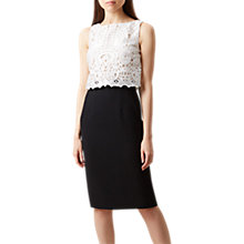 Buy Hobbs Zoella Sleeveless Dress, Black/Ivory Online at johnlewis.com