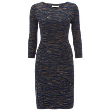Buy White Stuff Arran Print Jersey Dress, Blue Online at johnlewis.com