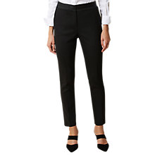 Buy Hobbs Georgia Trousers, Black Online at johnlewis.com