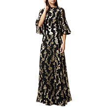 Buy Hobbs Luella Maxi Dress, Black/Multi Online at johnlewis.com