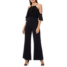 Buy Coast Jona Burnout Jumpsuit, Black Online at johnlewis.com