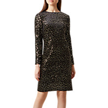 Buy Hobbs Mia Sequin Dress, Black/Gold Online at johnlewis.com