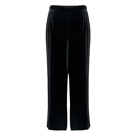 buy east velvet cropped trousers black lewis