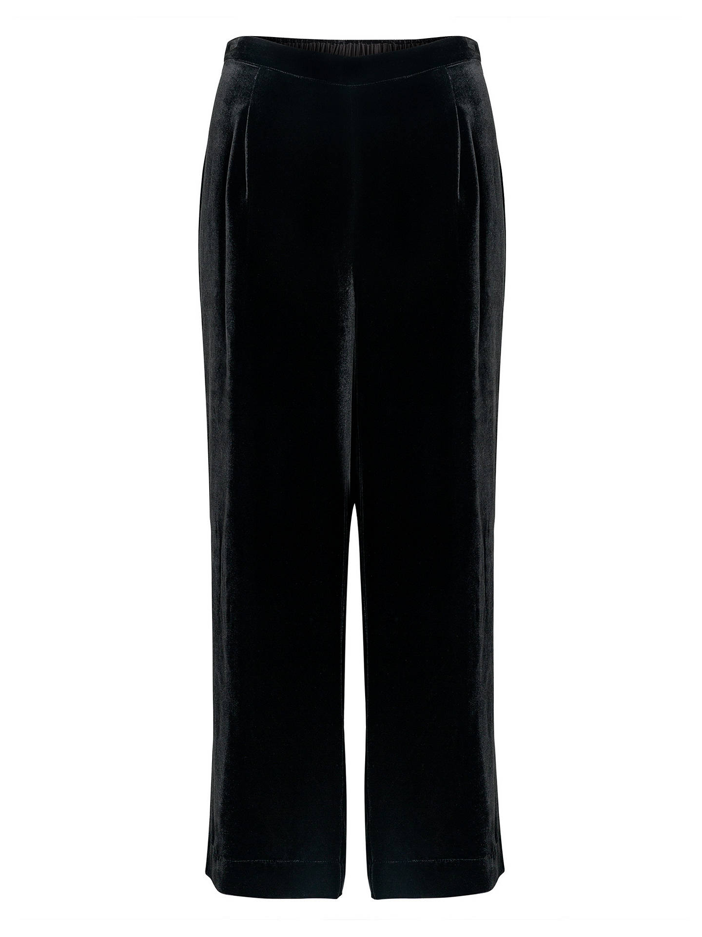 BuyEast Velvet Cropped Trousers, Black, 10 Online at johnlewis.com