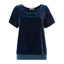 Buy White Stuff Posey Velvet Split Back Top Online at johnlewis.com