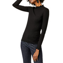 Buy Warehouse Long Sleeve Ribbed Polo Top Online at johnlewis.com
