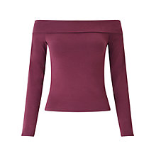 Buy Miss Selfridge Foldover Bardot Top Online at johnlewis.com