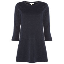 Buy Whistles Winding River Twist Dress, Navy Online at johnlewis.com