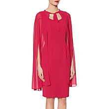 Buy Gina Bacconi Frieda Cape Dress, Cherry Wine Online at johnlewis.com