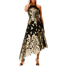 Buy Coast Gold Leaf Jacquard Dress, Gold Online at johnlewis.com
