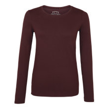 Buy Fat Face V-Neck Hollie Long Sleeve T-Shirt, Deep Berry Online at johnlewis.com