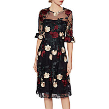 Buy Gina Bacconi Celia Floral Embroidered Dress, Multi Online at johnlewis.com