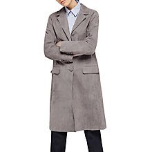 Buy Gerard Darel Gwyneth Suede Leather Coat, Grey Online at johnlewis.com