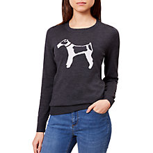 Buy Hobbs Bailey Wool Jumper, Grey/Ivory Online at johnlewis.com