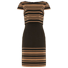 Buy Phase Eight Denice Double Layer Dress, Charcoal/Camel Online at johnlewis.com