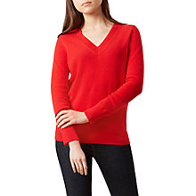 Buy Hobbs Vikki Cashmere Jumper, Highland Red Online at johnlewis.com