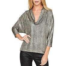 Buy Damsel in a dress Liquid Python Top, Metallic Online at johnlewis.com