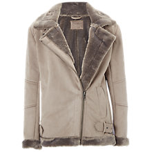 Buy White Stuff Nene Faux Shearling Jacket, Taupe Online at johnlewis.com