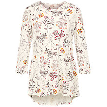 Buy Fat Face Peyton Wildflower Peplum Top, Ivory Online at johnlewis.com